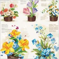 Link toPots of flowers vector