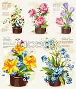 Link toPotted flowers vector