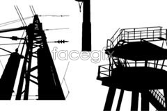 Link toPower facilities silhouette vector