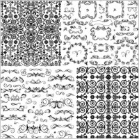 Link toPractical black and white lace pattern vector