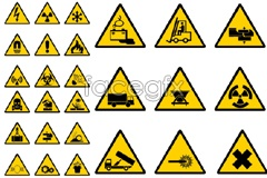 Link toPractical construction site safety warning sign vector