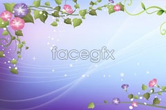 Link toPractical lace pattern of morning glory and dream background vector