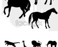Link toPrairie animal silhouettes vector design