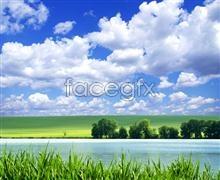 picture landscape river Prairie