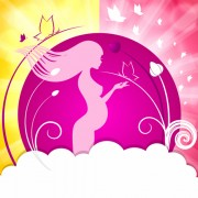 Link toPregnant woman with elegant background 03 free