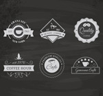 Link toPremium coffee labels vector