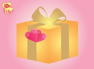 Link toPresent with hearts vector free