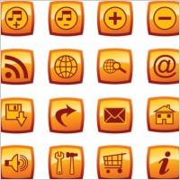 Link toPress the button web design icon vector