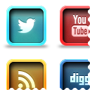 Link toPressed social icons