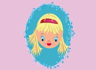 Link toPretty doll face vector free
