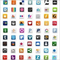 Link toPretty social media icon part 1 icons pack