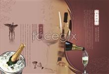Link toPrime restaurant frozen champagne advertising poster psd