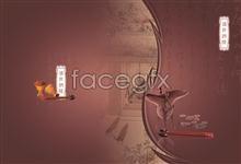 Link toPrime restaurant posters, glass chopsticks psd