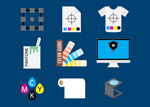Link toPrinting-related icons vector