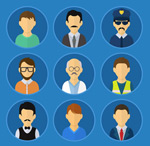 Link toProfessional man avatars vector