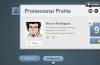 Link toProfessional web card profile psd