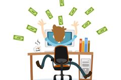 Link toProfitable business-man vector
