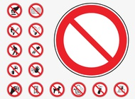 Link toProhibition signs vector free