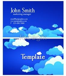 Link totemplates design card business blue abstract Psd