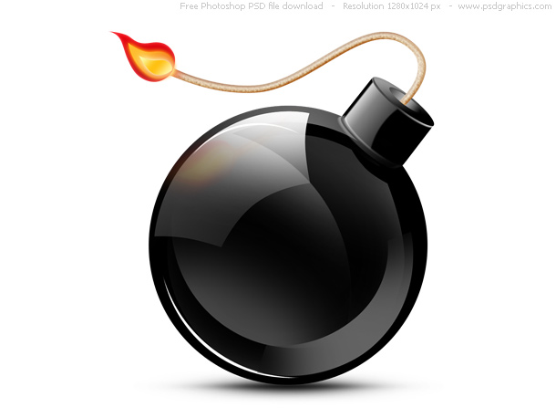 Link toPsd black burning bomb icon
