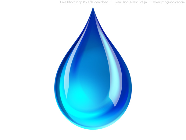 Link toPsd blue water droplet icon
