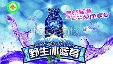 Link toPsd blueberry drink ad