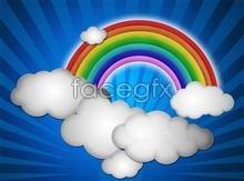Link toPsd cartoon rainbow background