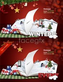 Psd christmas poster template