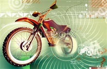 Link toadvertisement motorcycle creative Psd