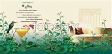 Link totemplate ads estate real creative Psd