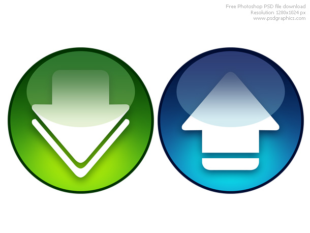 Link toPsd download and upload icons