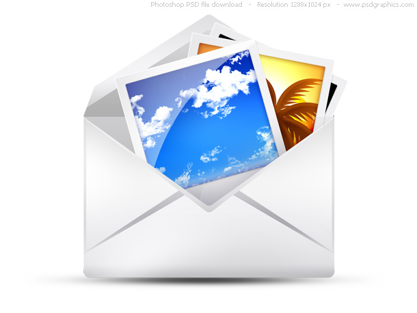 Link toPsd envelope, email icons set