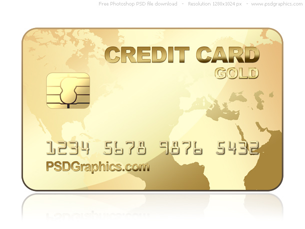 Link toPsd gold credit card template
