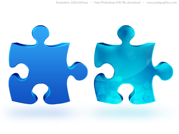 Psd jigsaw puzzle icon