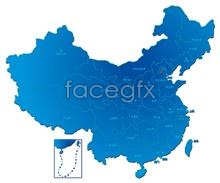 Link toPsd of chinese administrative regions map