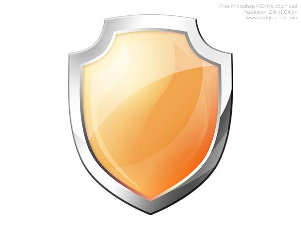 Link toPsd orange shield icon