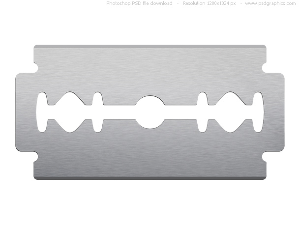Link toPsd razor blade on white