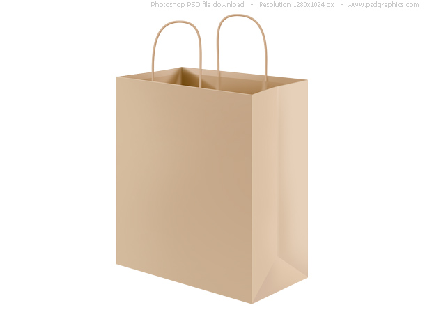 Link toPsd recycled paper shopping bag
