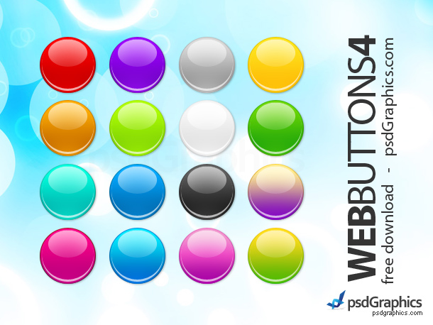 Link toPsd round web buttons set