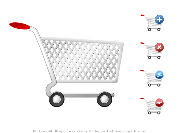 Link toPsd shopping cart icons set