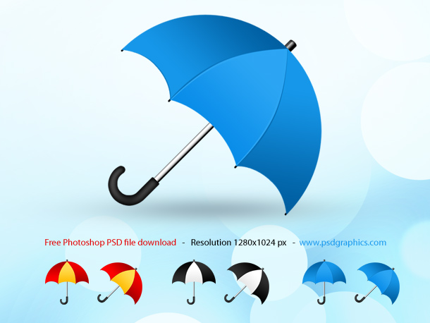 Psd umbrella icon