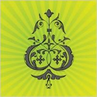 Link toPsychedelic flower ornament vector, vecor ornament eps design
