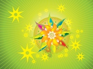 Link toPsychedelic flowers vector free