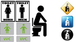 Link toPublic toilet icon vector