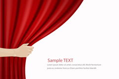 Link toPull curtain background vector