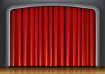 Link toPull the curtain on stage vector