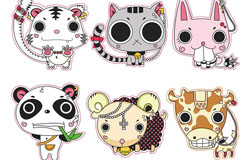 Link toPunk cartoon animal design vector