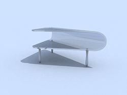 Link toPure white glass fashionable tea table 3d models