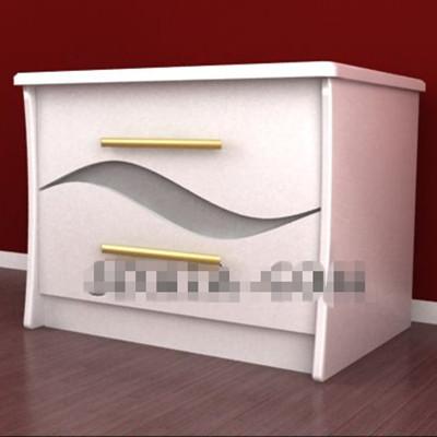 Link toPure white minimalist bedside table 3d model