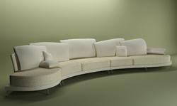 Link toPure white people public sofa 3d models